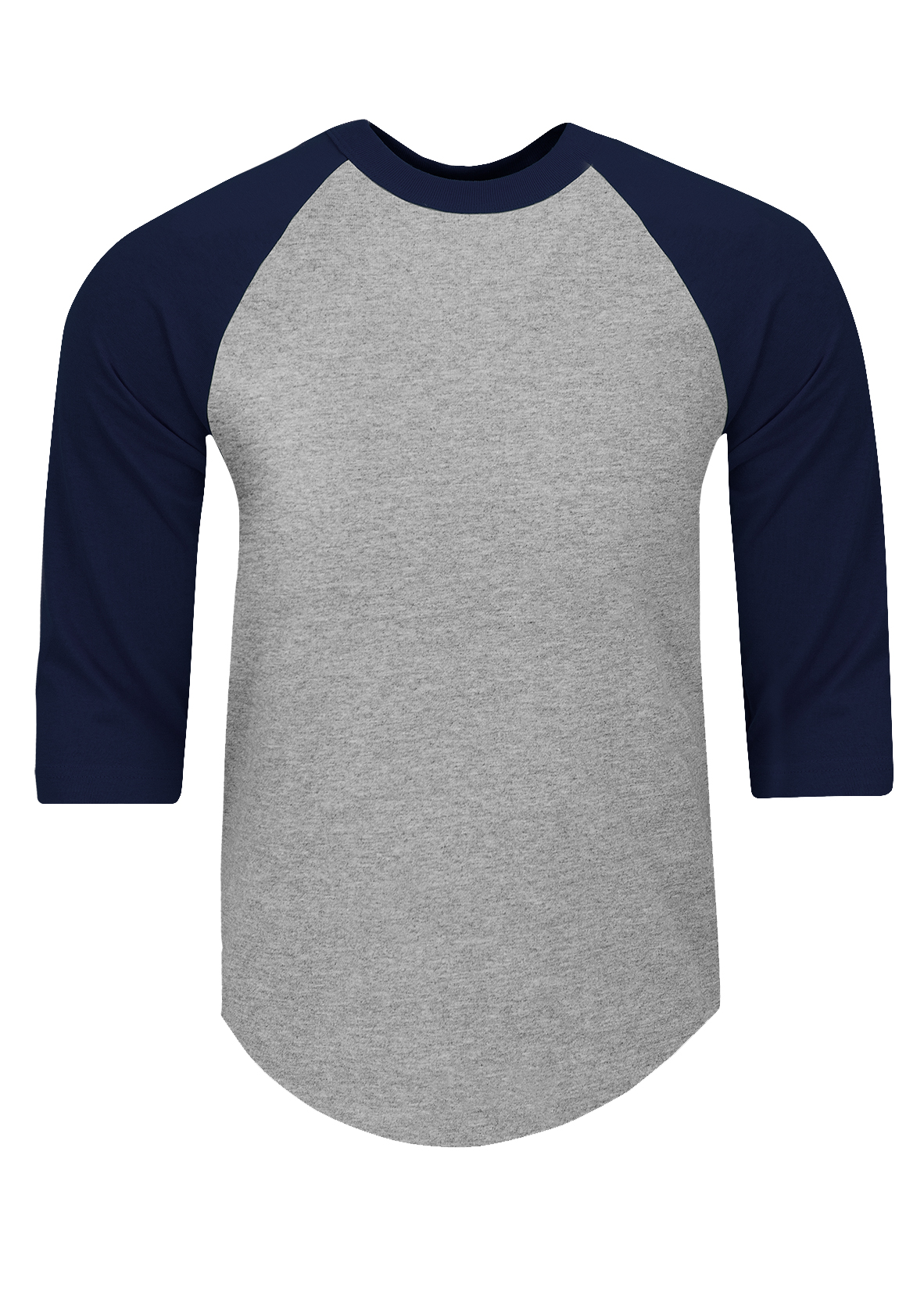 Mens New Top Raglan Long Sleeve 2 Colour Fashion Curved Hem Tshirt Baseball