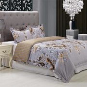Simple Luxury Garden 3 Piece 100pct Egyptian-Quality Cotton Reversible Duvet Cover Set