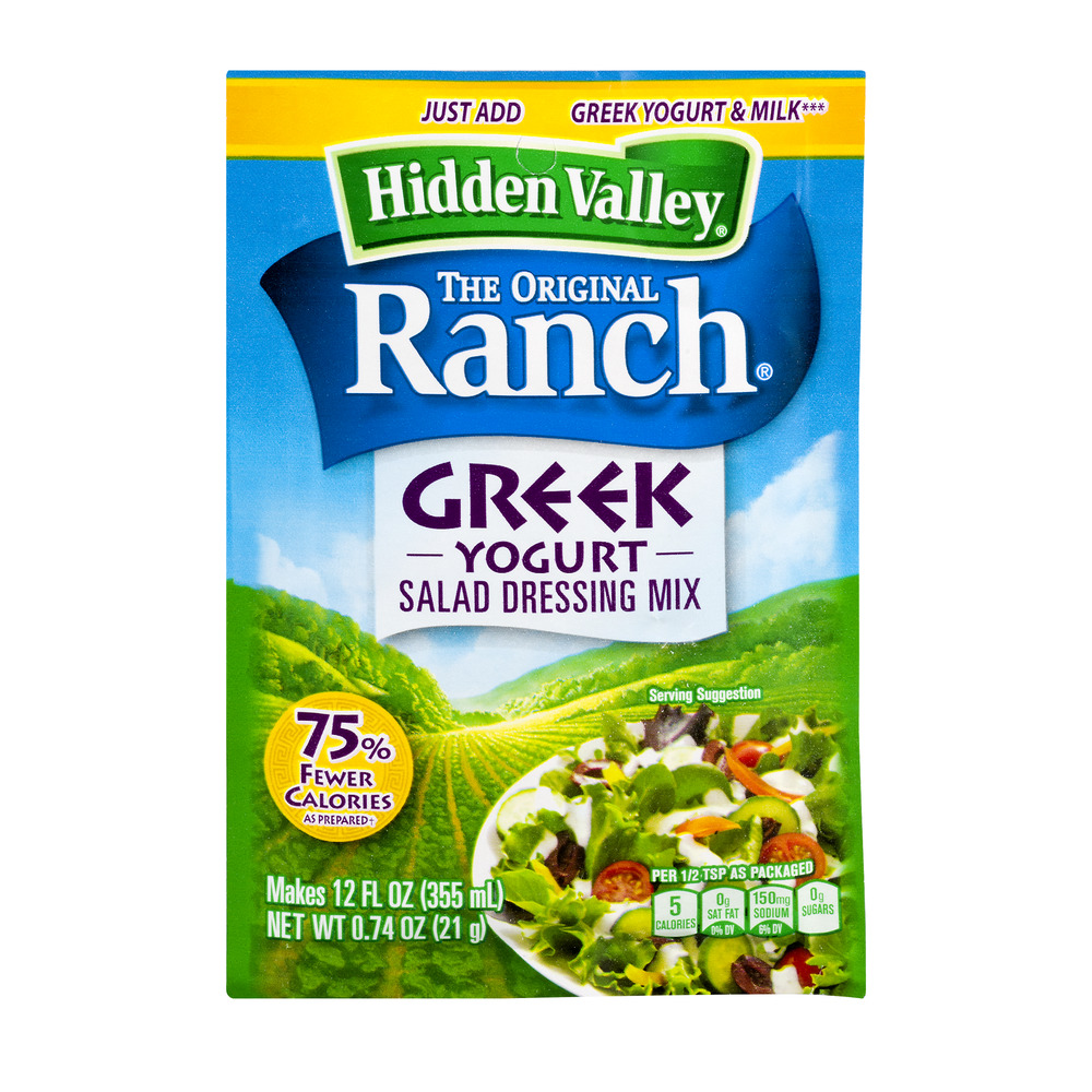 Hidden Valley Original Ranch Greek Yogurt Salad Dressing Mix, 0.74 oz