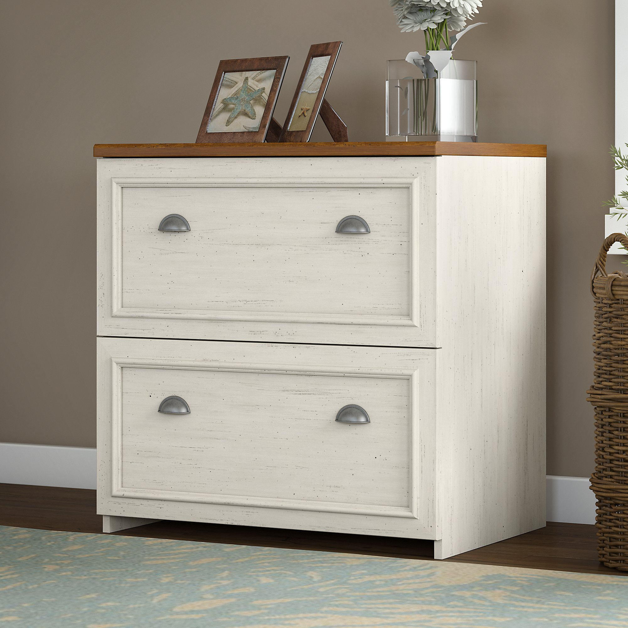Beautiful Bush Furniture Fairview Lateral File Cabinet In Antique White