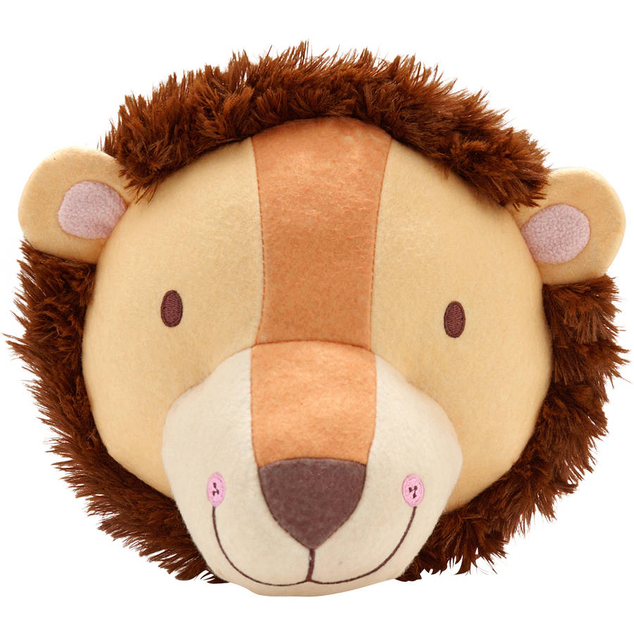 Lion Plush Head Wall Decor