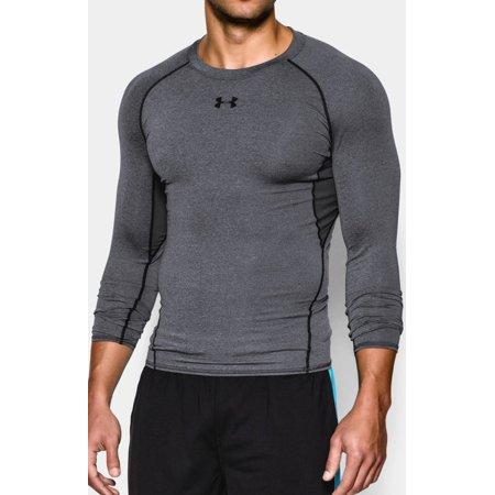 Under Armour - Under Armour Men s HeatGear Armour Long Sleeve Compression  Shirt 1257471-090 Carbon Heather - Walmart.com ce3ec1854