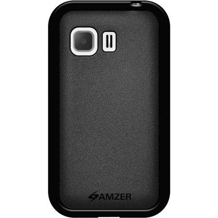 Amzer Pudding Soft Gel TPU Skin Case Back Cover for Samsung Galaxy Young 2 SM-G130, Black ()