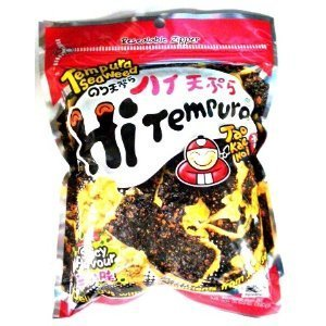 Taokaenoi Tempura Seaweed Hitempura Spicy Flavour 1.41 Oz (Pack of - Spongebob Seaweed