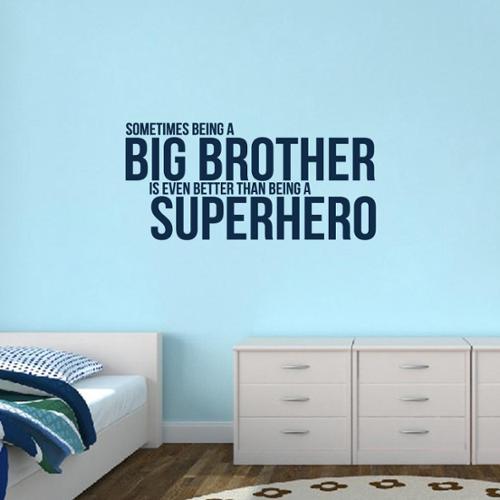 Sweetums Big Brother Superhero' 48 x 22.5-inch Wall Decal