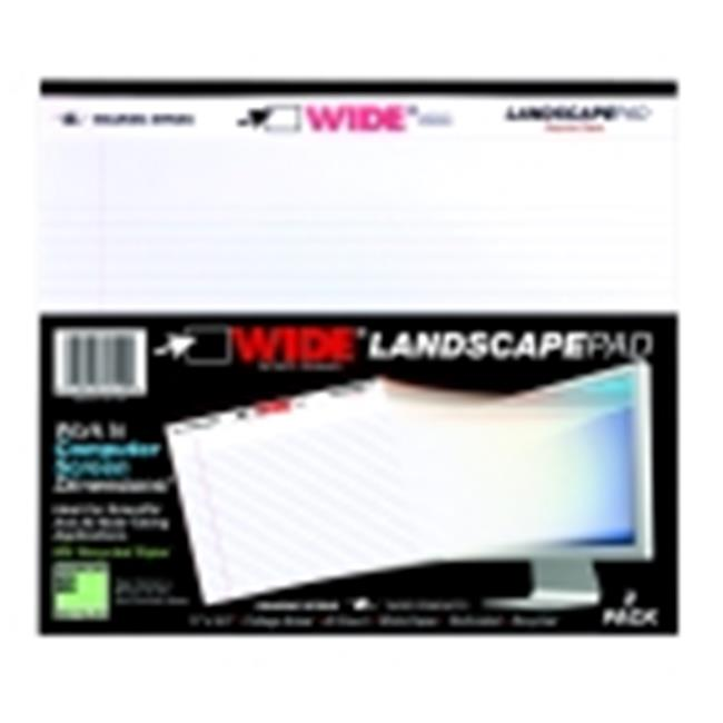 Roaring Spring College Ruled Landscape Oriented Legal Pad - Pack 2