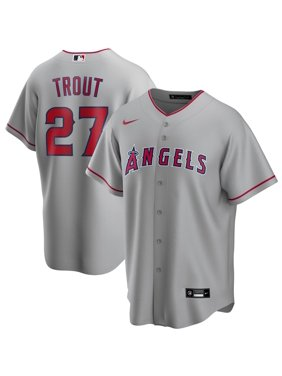 Mike Trout Los Angeles Angels Nike Road 2020 Replica Player Jersey - Silver