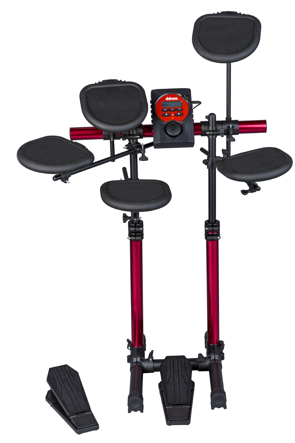 Ddrum DD Series Beta Black Finish Compact Electronic Drum Kit (DD BETA D LITE) by