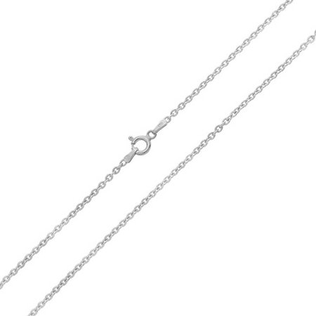 Simple Basic Thin 1 MM 925 Sterling Silver Rolo Cable Chain Necklace For Women For Teen Made In Italy 16 18 20 24 - Thin Rolo Chain