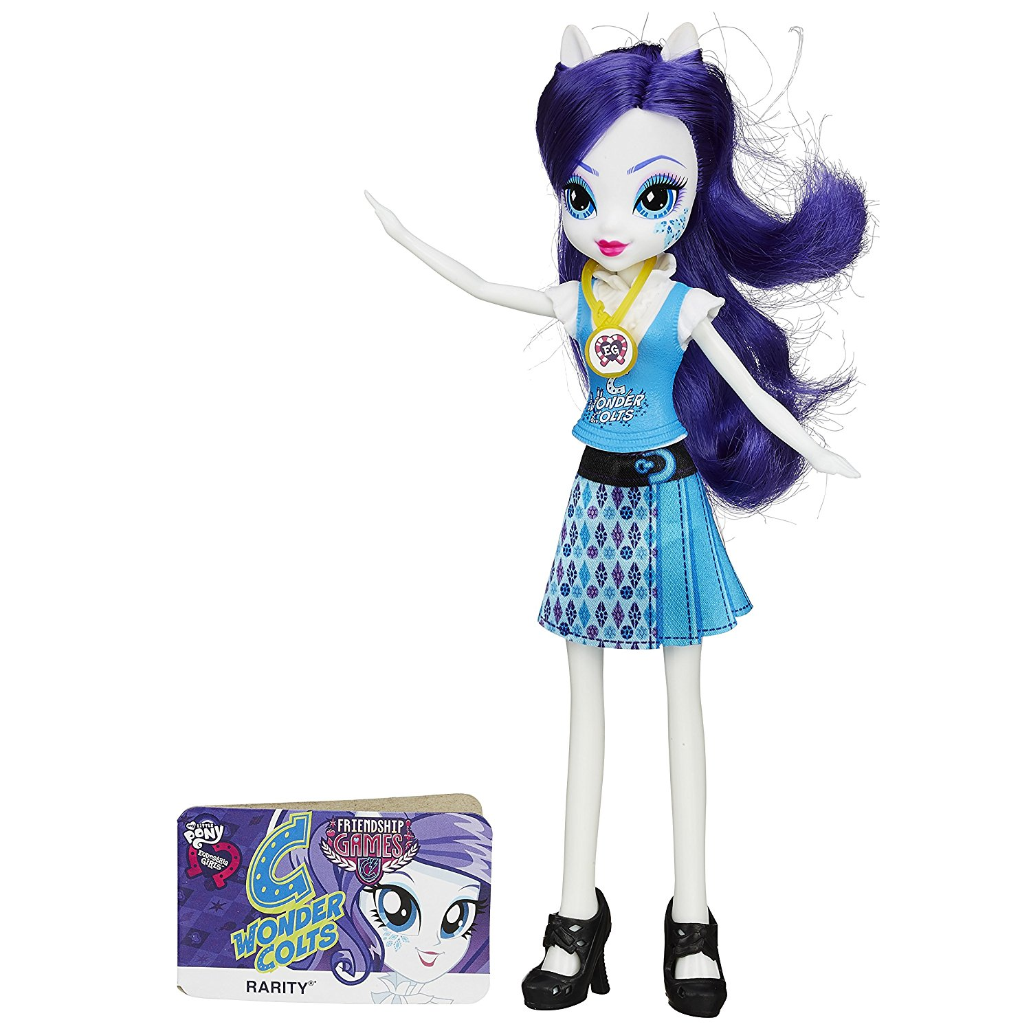 Equestria Girls Rarity Friendship Games Doll, Equestria Girls dolls feature long, colorful hair! By My Little Pony Ship from US