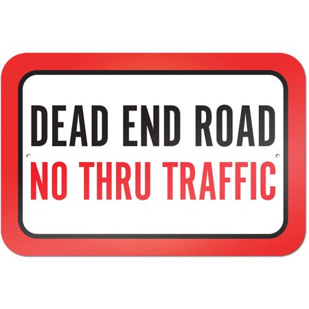 Dead End Road No Thru Traffic Sign