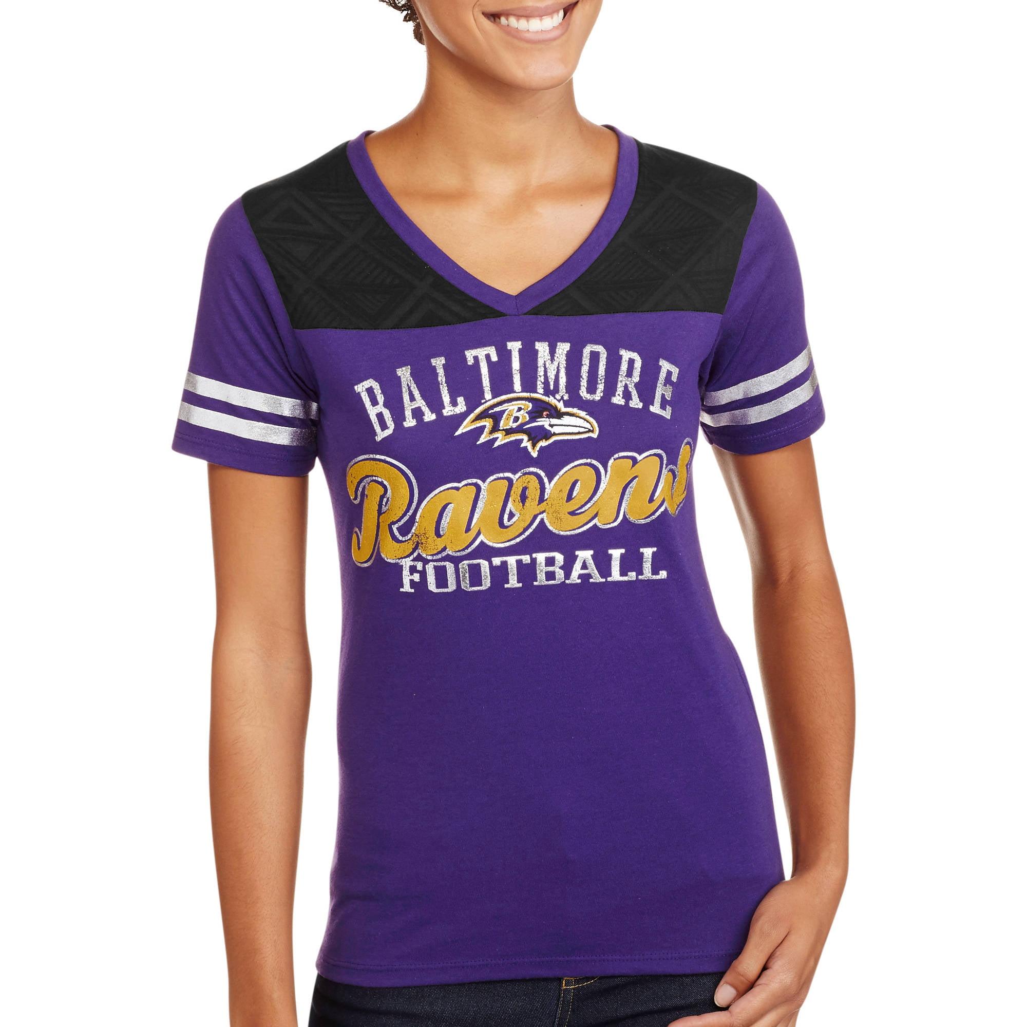 NFL Juniors Ravens  V Neck Short Sleeve Tee