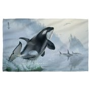 Wild Wings Teeming Waters 2 Bath Towel White 27X52