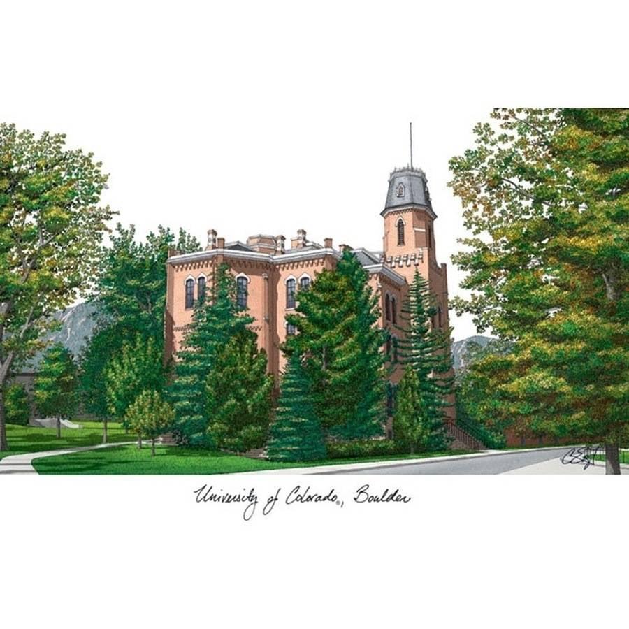 University of Colorado, Boulder Campus Images Lithograph Print