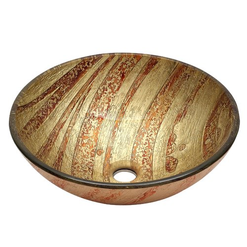 RIVUSS Handcrafted Tempered Vessel Sink