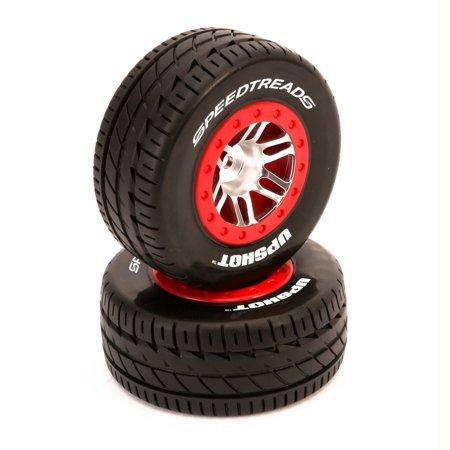 Duratrax SpeedTreads Upshot SC Tire Mounted (2): Traxxas Slash/Rustler 4X4 Front Rear ECX, (Traxxas Rustler Tires)