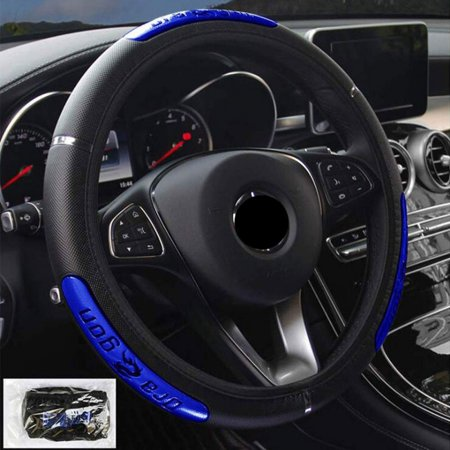 Universal Leather Car Steering Wheel Cover Car-styling Sport Auto Steering Wheel Covers Anti-Slip Automotive Accessories 350mm Sport Leather Steering Wheel