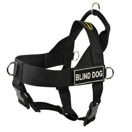 DT Universal No Pull Dog Harness, Blind Dog, Black, Small, Fits Girth Size: 24-Inch to 27-Inch