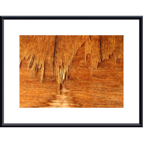 Printfinders Weathered Plywood by John K. Nakata Framed Photographic Print