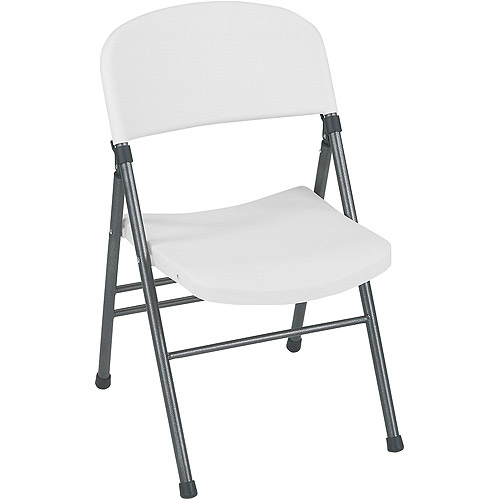 Cosco Commercial Chair, White, Set Of 4