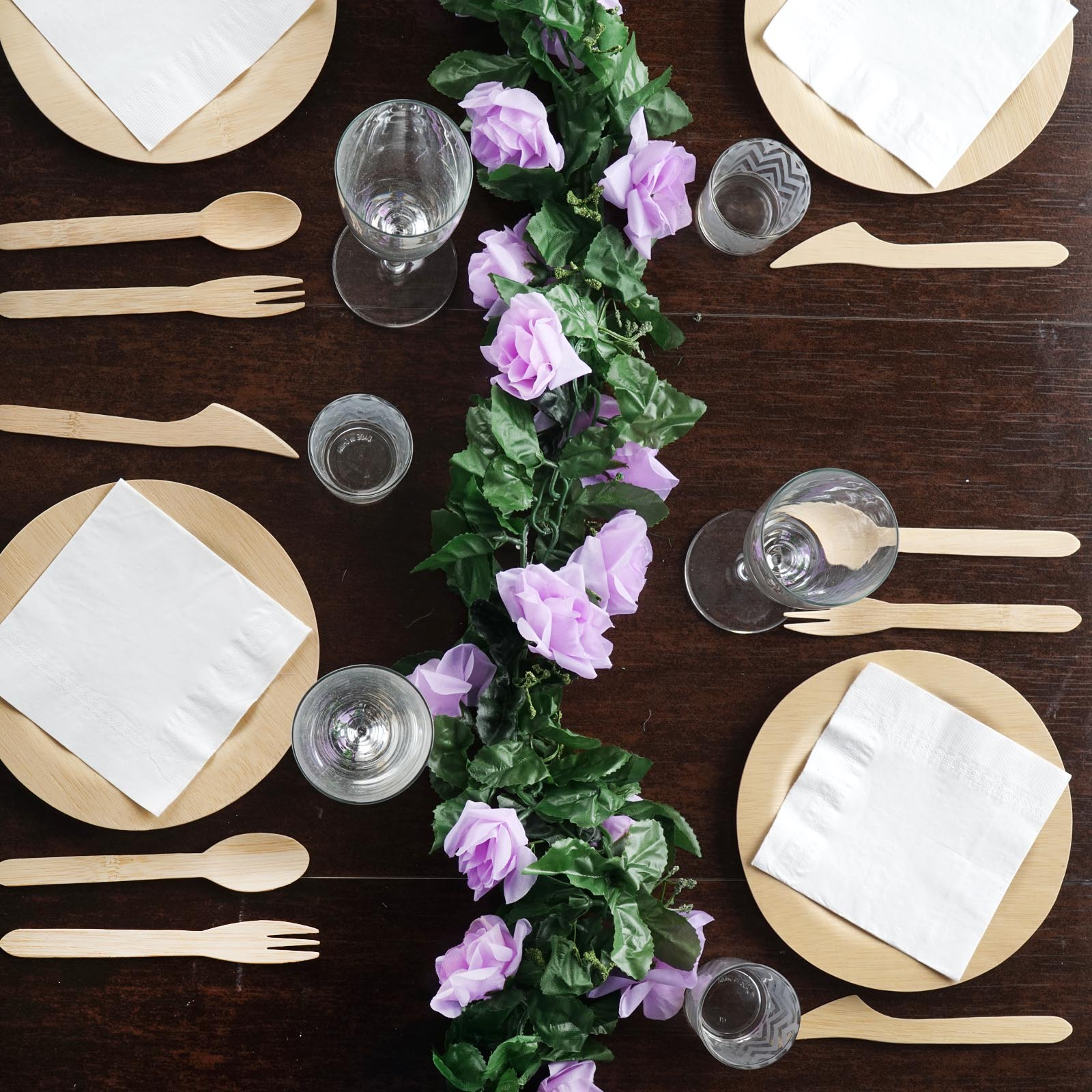 Efavormart 6 FT Long 3D Chain Artificial Rose Garlands Wedding Supply for DIY Wedding Arrangements Party Baby Shower Decorations