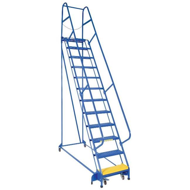 Vestil LAD-PW-32-12-P 12 Step Portable Warehouse Perforated Ladder, 30.25 in.