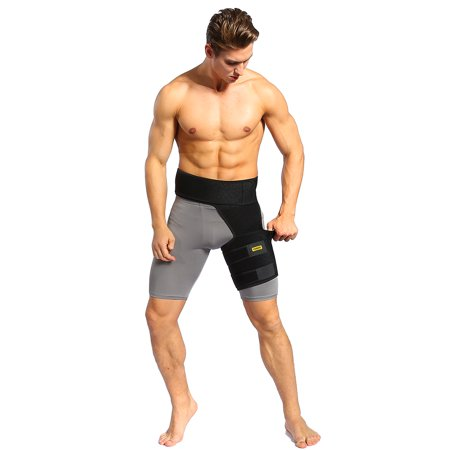 Yosoo Groin Thigh Sleeve and Hip Support Wrap. Adjustable Neoprene Brace for Hamstring, Quad, Pulled Muscles, Lower Back, Sciatica Nerve, Hip Flexor, Strain, Arthritis for Men and
