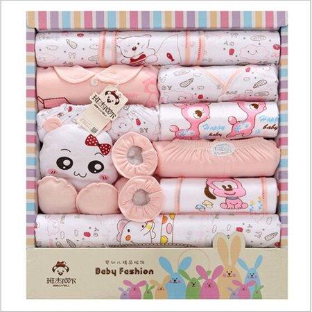 e79d1c91b 18 Pcs   Set Newborn Gift Set Baby Clothes Cotton Long Sleeve Baby ...