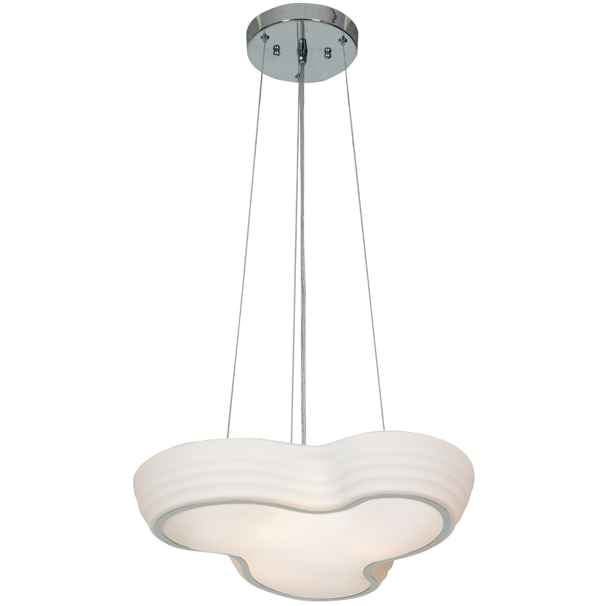 Access Lighting 20689LEDD-CH OPL Pebble LED 20 inch Chrome Flush Mount Ceiling Light by Access Lighting