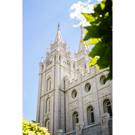 LAMINATED POSTER Temple Building Salt Lake City Holy Lds Church Poster Print 24 x 36