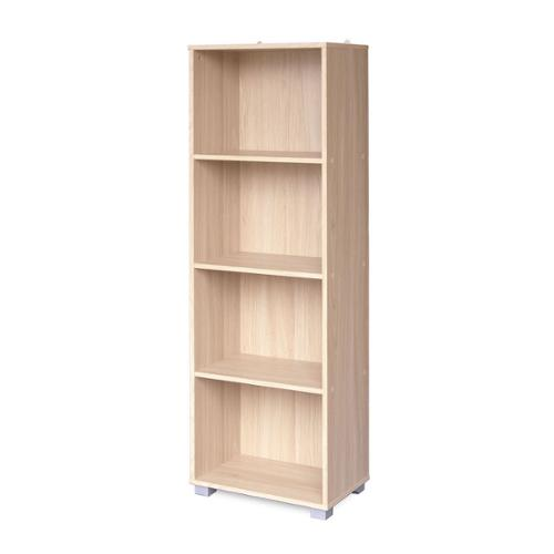 transcontinental sorento black narrow bookcase 4 tier e2