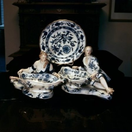 China Royal Meissen Dresden Antiques-Housewares Canvas Art - (24 x 36)