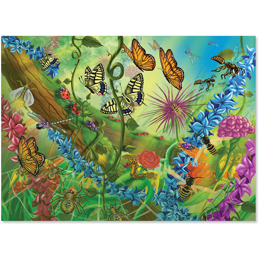 Melissa & Doug 0060pc World of Bugs Cardboard Jigsaw