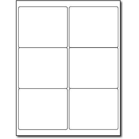 1800 Labels, 6up Size 4 x 3.33. Use with Word Templates. Labels Compatible with all Ink Jet and Laser Printers (1,800 (1800 Labels)