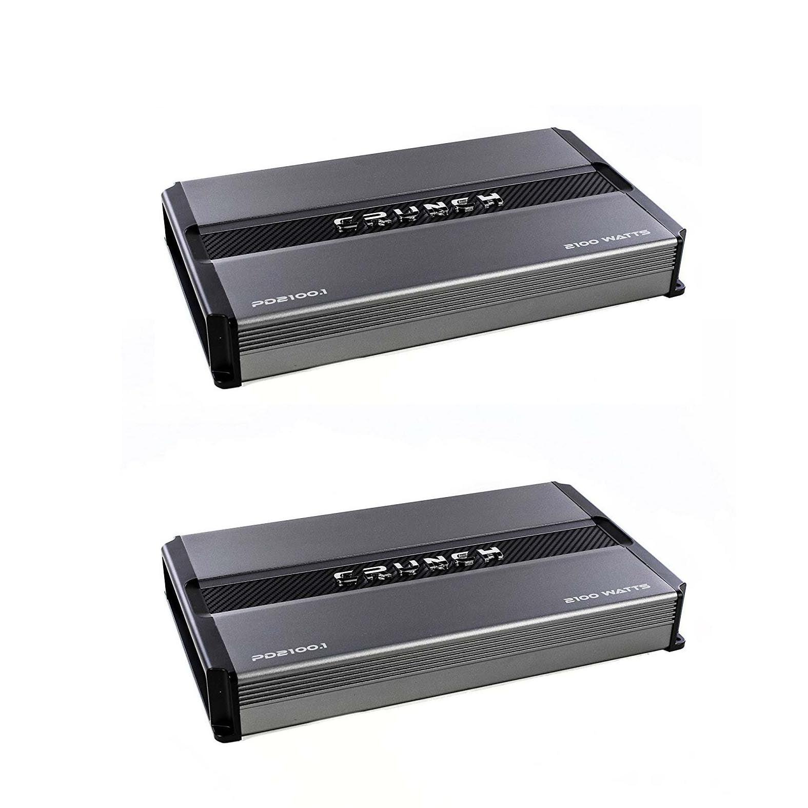 Crunch Power Drive 2100W Max Monoblock Class A/B Car Audio Amplifier (2 Pack)