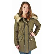 Jessica Simpson Anorak Women's Hooded Parka Winter Coat Green Size M