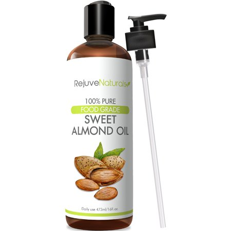 Cold Pressed Sweet Almond Oil  16 Oz   100  Pure  All Natural  Therapeutic Carrier Oil   Moisturizer For Massage  Skin  Hair Growth  Cuticles   Cooking  Food Grade   Chemical Free By Rejuvenaturals