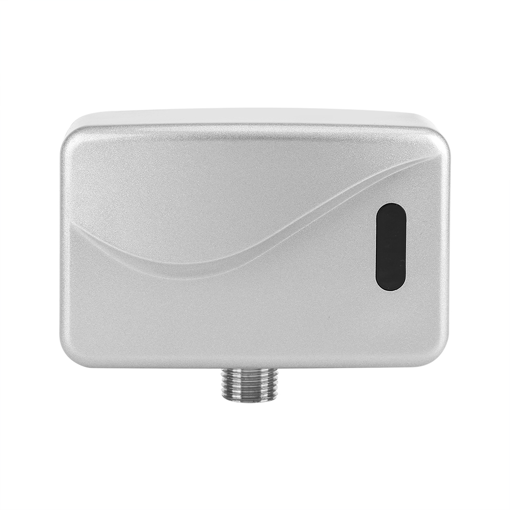 DC 6V Exposed Wall Mounted Automatic Sensor Touchless Urinal Flush Valve Fits for All Kinds Modification Works Public Toilet Hotel Hospital Airport Bathroom Urinal Valve