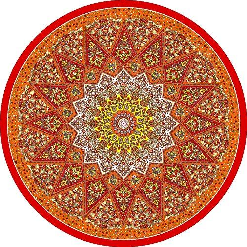 Dohler Indian Round Beach Towel, Red, OS