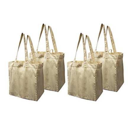 Cheap Reusable Bags (Earthwise Cotton Canvas Reusable Shopping Grocery Bag Tote (4)