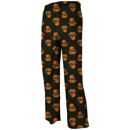 Cleveland Browns Toddler Allover Print Pajama Pants - Brown