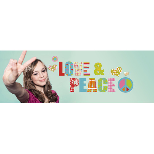 Brewster Home Fashions Euro Love & Peace Wall Decal