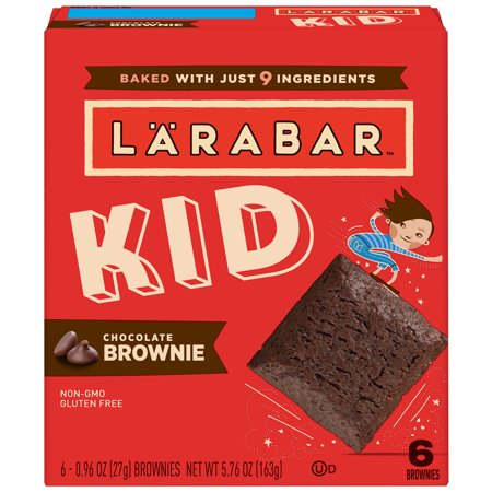 - (4 Pack) Larabar Kid Chocolate Brownie Bars 5 ct Box, 5.76 oz