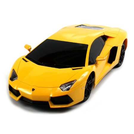 Electric Rc Model Parts - RC Car 1:18 Lamborghini Aventador Radio Remote Control Cars Electric Car Sport Racing Hobby Toy Car Grade Licensed Model Vehicle for Kids Boys and Girls Best Gift (yellow)