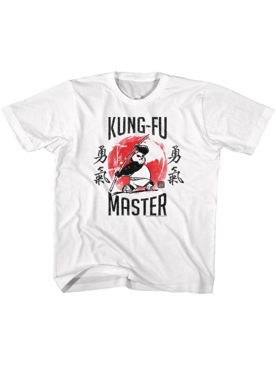 Kung Fu Panda Movie Kung Fu Master White Toddler Little Boys T-Shirt Tee