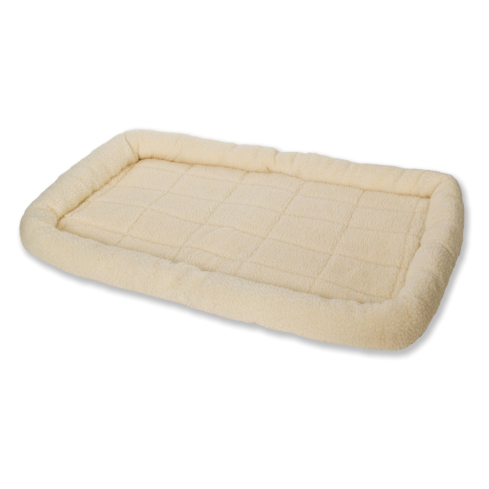 Miller Little Giant Pet Lodge Fleece Pet Bed, 35 Inch Large Size, Cream