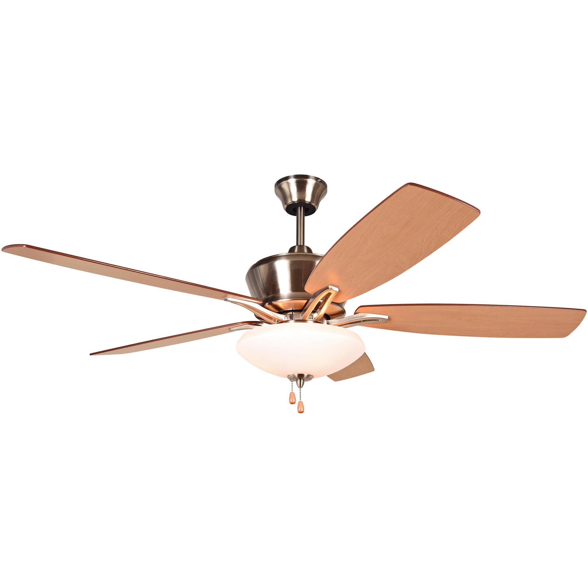 """Litex Industries Kala 52"""" Dual Mount Ceiling Fan Brushed Nickel"""