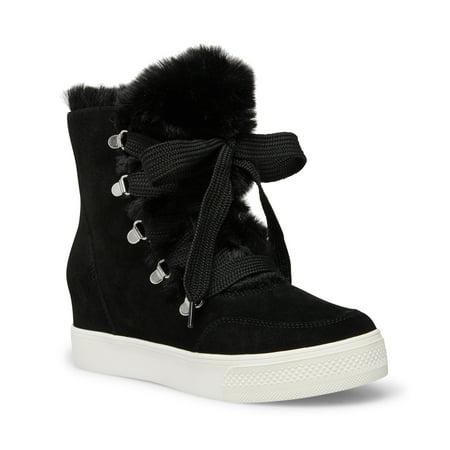 Steve Madden Wharton Faux Fur Sneaker Bootie (Women's)