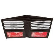 RFID Blocking Bifold Hipster Credit Card Wallet Premium Lambskin Leather RFID P 1502