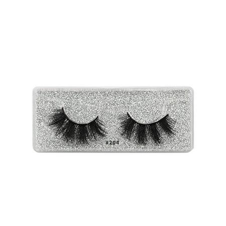 Chinatera 1 Pair Thick Dense Natural Mink Hair 3D False Eyelashes Makeup Tools (204)